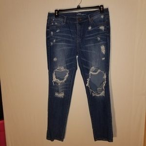 Soho new York and comp boyfriend jeans distressed